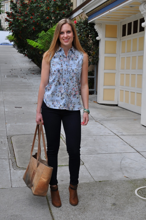 Madewell shirt (old), J Brand jeans, Madewell booties (old), Anthropologie bracelet (old), TEXI leather bag